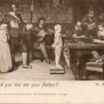 The postcard was sent to Saxon Ward