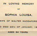 Sophia Louisa Maddaford